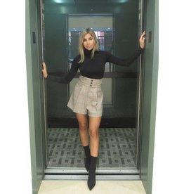 LEXI DREW HW Plaid Shorts