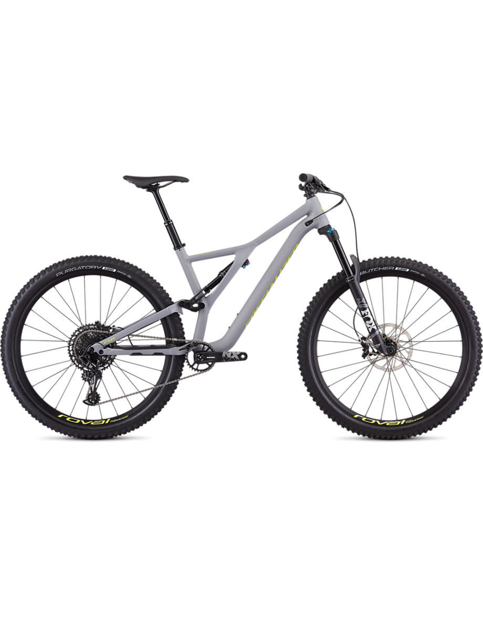 SPECIALIZED 2020 SJ FSR MEN COMP 29 12 SPD - Satin Cool Grey/Team Yellow LARGE