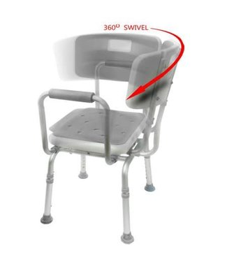 Mobb Mobb Bath Seat Swivel With Back & Arms