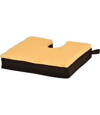 "Nova Nova Gel/Foam Seat Cushion With Coccyx Cutout & Fleece Top 18"" W X 16"" D X 3"" H"