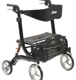 Drive Medical Drive Rollator, Heavy Duty, Nitro, Black, 450Lb Cap
