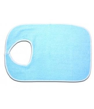 Essential Medical Supply Essential Patient Bib Standard Soft Blue