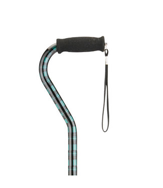Nova Nova Offset Cane Green Plaid
