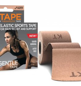 """KT Tape KT Tape Gentle Tape 20 Strips 10"""" Precut Beige"""