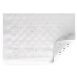 Nova Nova Bath Mat, White, Anti-Mildew, 16x28