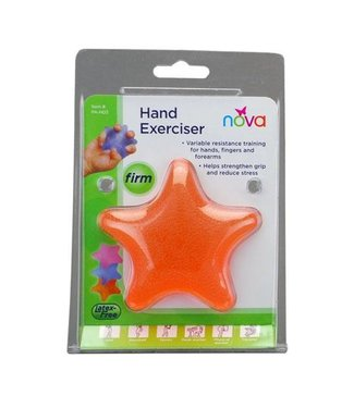 Nova Nova Hand Exerciser, Star, Hard, Five Finger