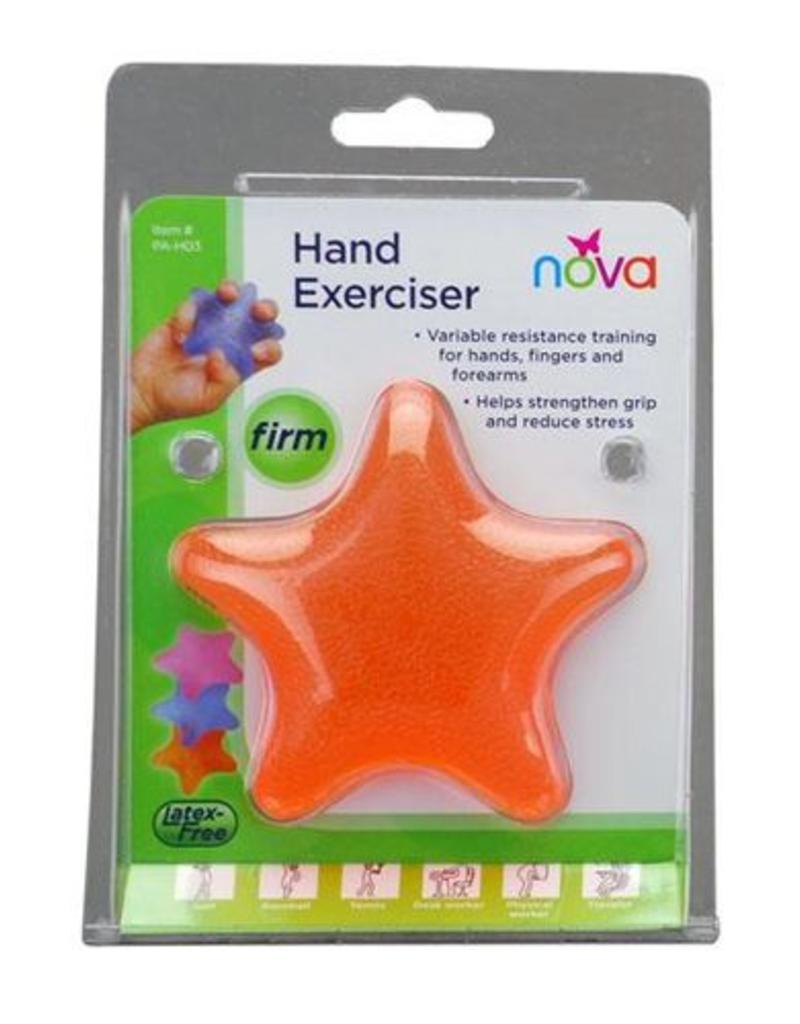 Nova Nova Hand Exerciser, Star, Hard, Five Finger