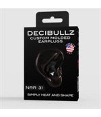 Oaktree Decibullz Custom Molded Earplugs - Black