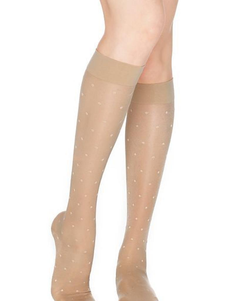 Dr. Comfort Dr. Comfort Sheer Dot Knee High Compression