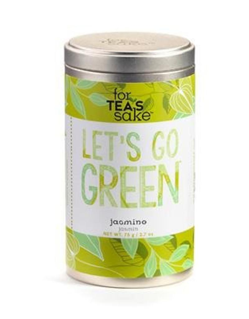 For Tea's Sake For Tea's Sake, Go Green Jasmine Tea Blend Tea Bags (1.7OZ/46.8G)