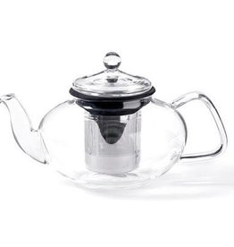 For Tea's Sake For Tea's Sake, 33oz. Glass Teapot w/ Stainless Steel Infuser