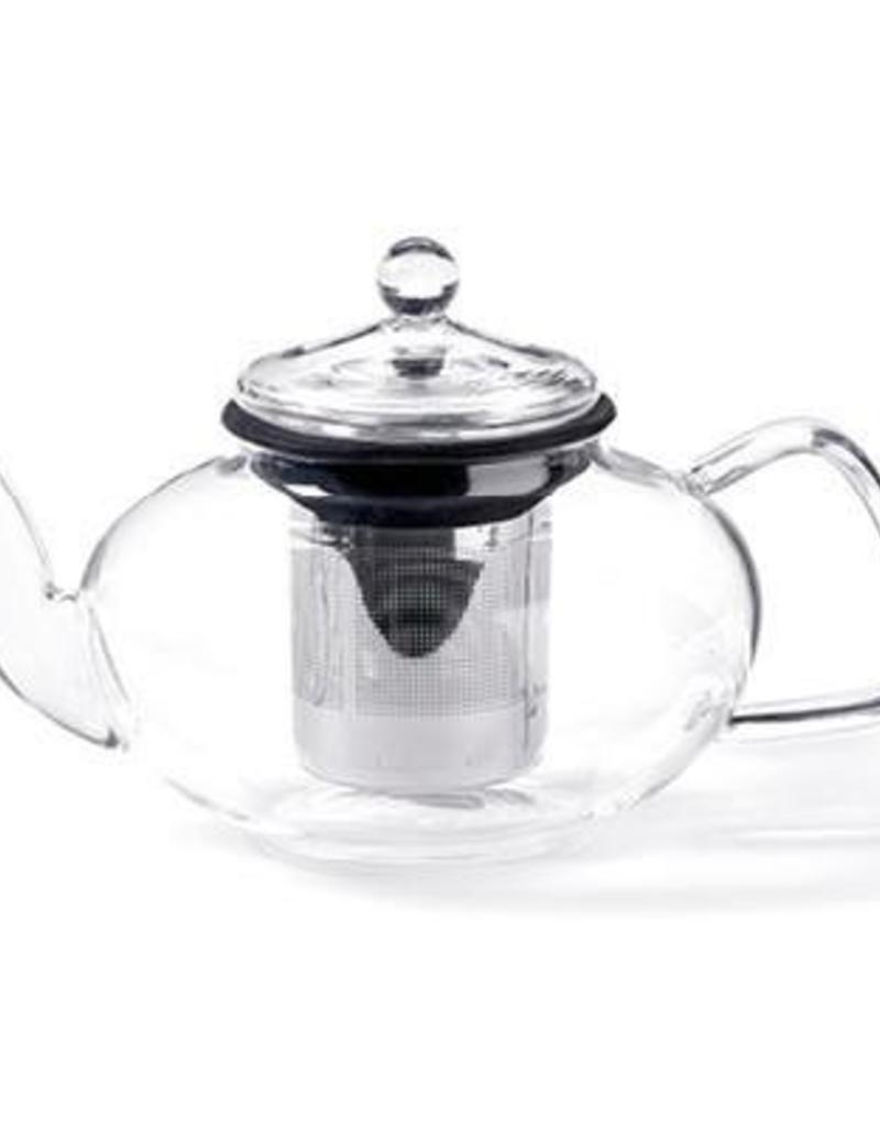 For Tea's Sake For Tea's Sake, 33oz. Glass Teapot w/ Stainless Steel Infuser