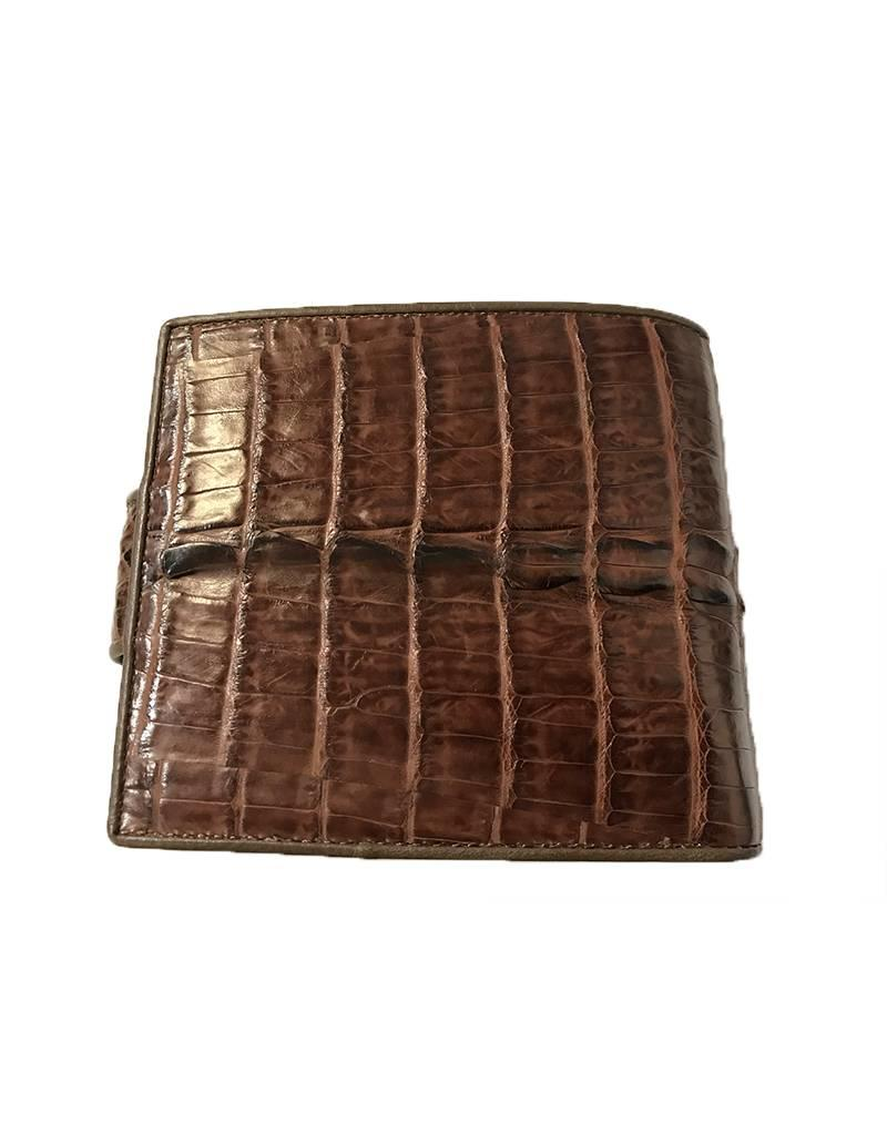 44e6cc97ae09 BJP Designs Australia Mens Crocodile Wallet - Brown