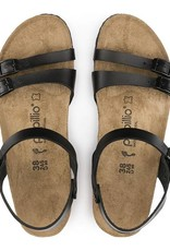 Birkenstock Lana - Natural Leather in Black (Papillio Wedge Heel)