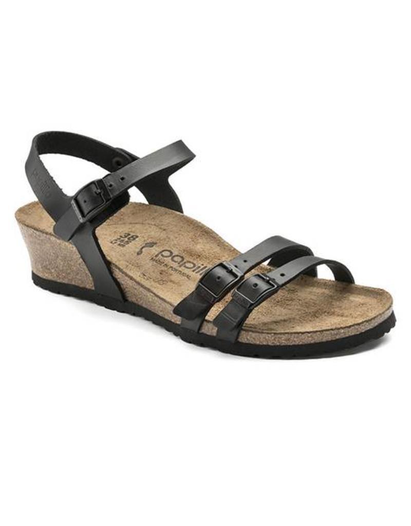 b426a8fc413 Birkenstock - Lana - Natural Leather in Black (Papillio Wedge Heel) ...