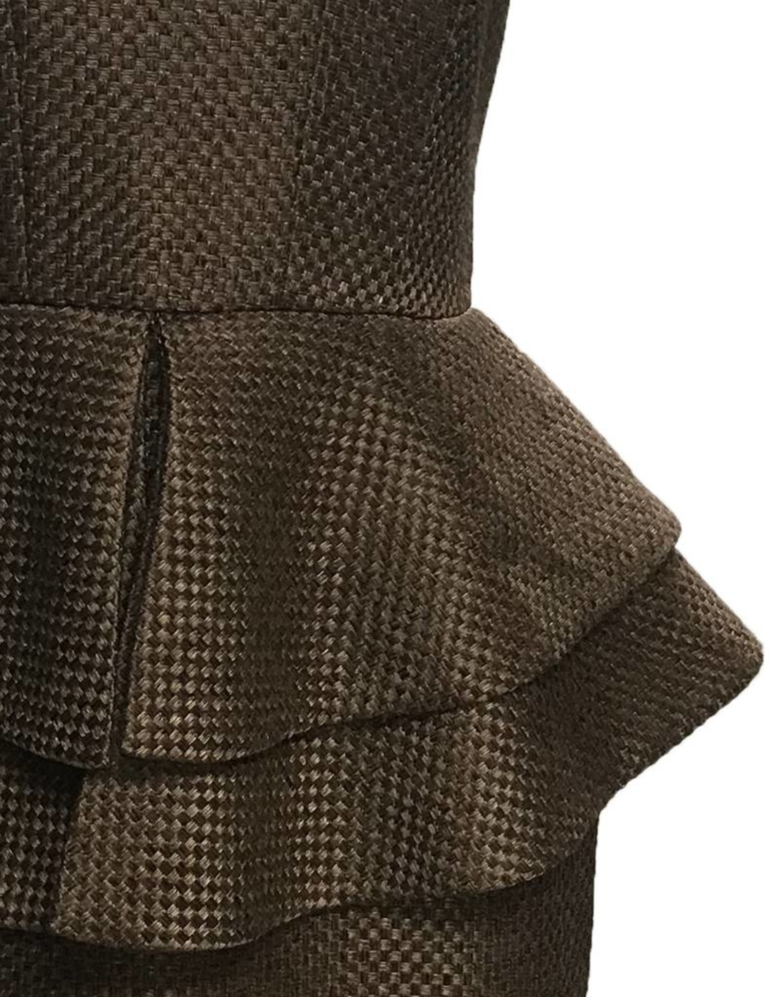 Elliatt Silhouette Peplum Dress - Khaki