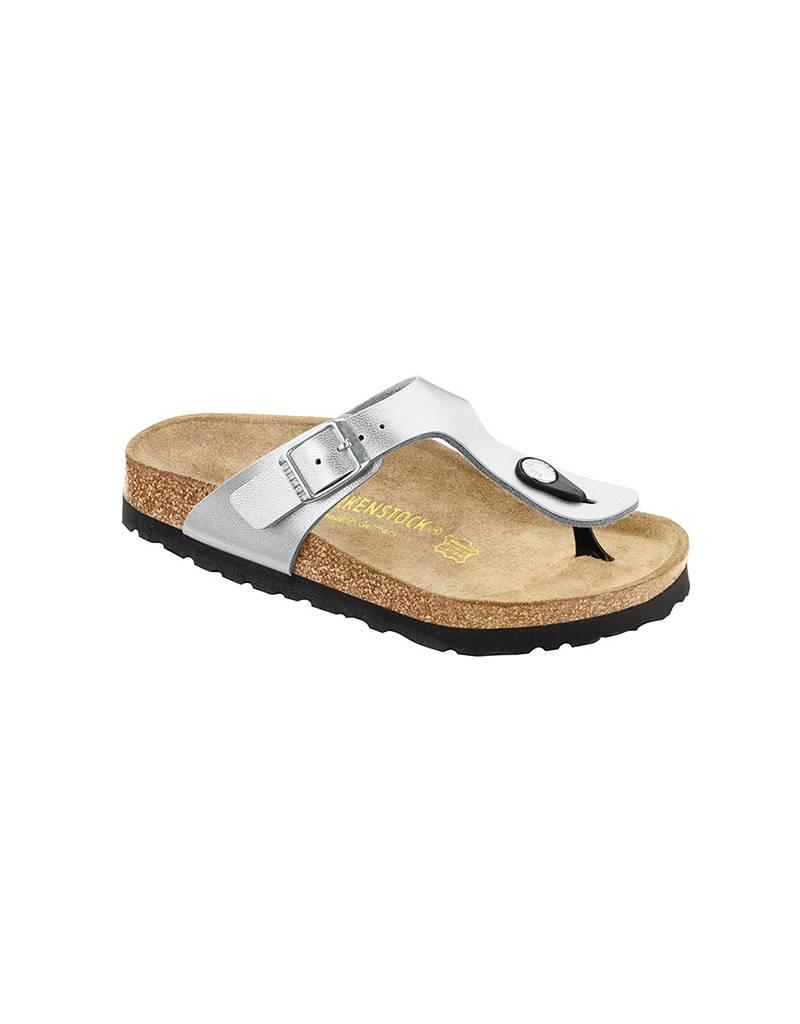 Gizeh Kids - Birko-Flor in Silver (Classic Footbed - Suede Lined) ... 4ed4915441
