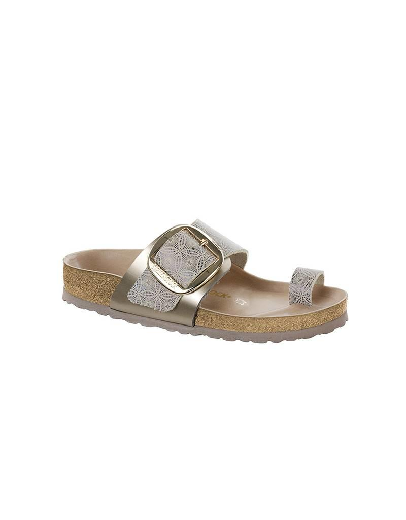 c24b906d2103 Miramar Big Buckle - Natural Leather in Ceramic Pattern Blue (Premium  Leather Footbed) ...