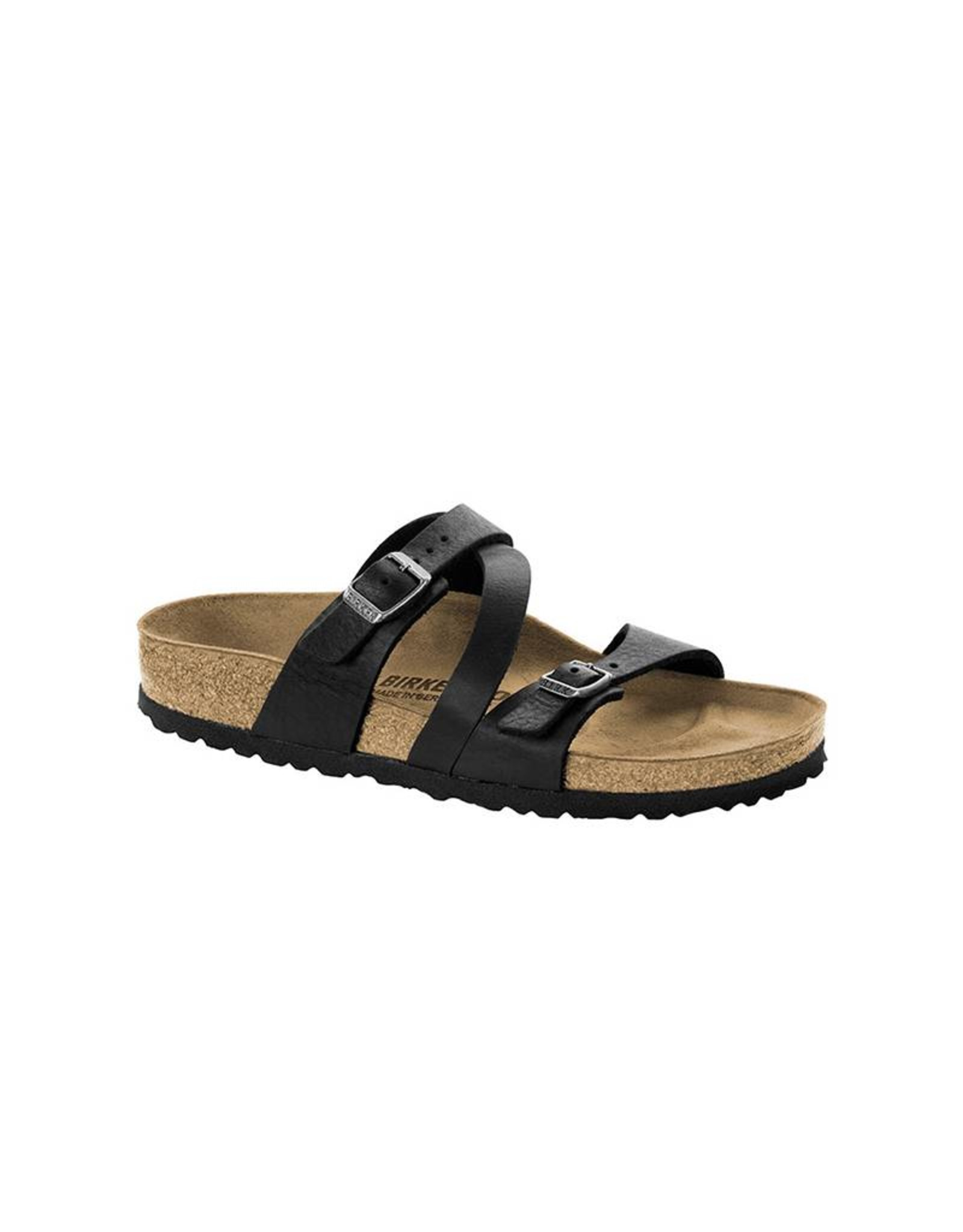 Birkenstock Salina -  Natural Leather in Camberra Old Black