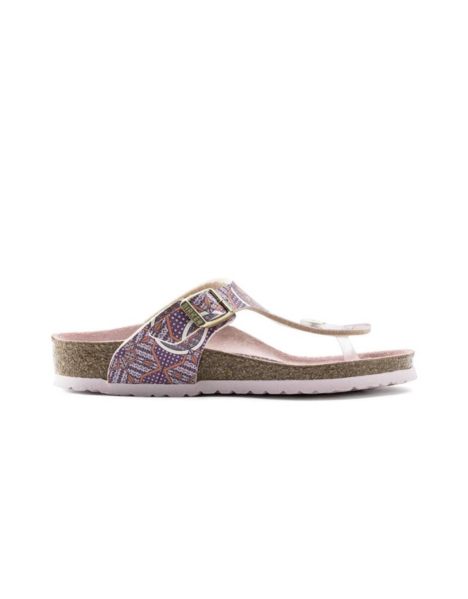 Birkenstock Gizeh Kids - Birko-Flor in Oriental Tiles Rose (Classic Footbed - Suede Lined)