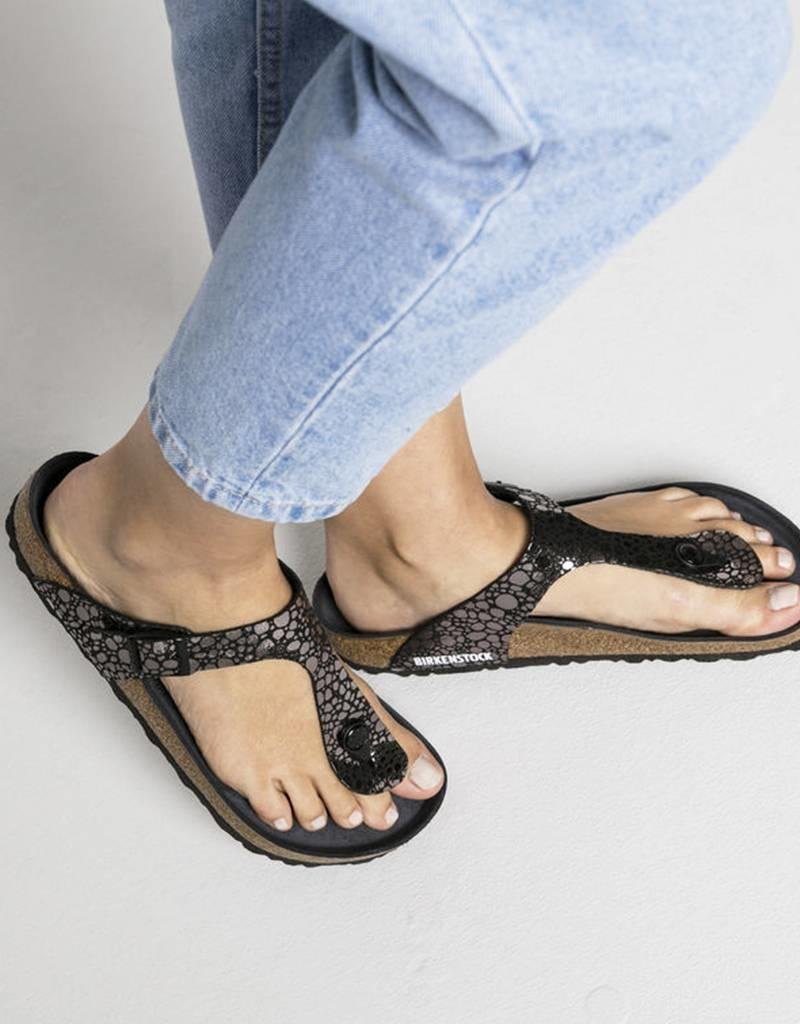 43faaf63331 ... Gizeh - Birko-Flor Patent in Metallic Stones Black (Classic Footbed -  Suede Lined