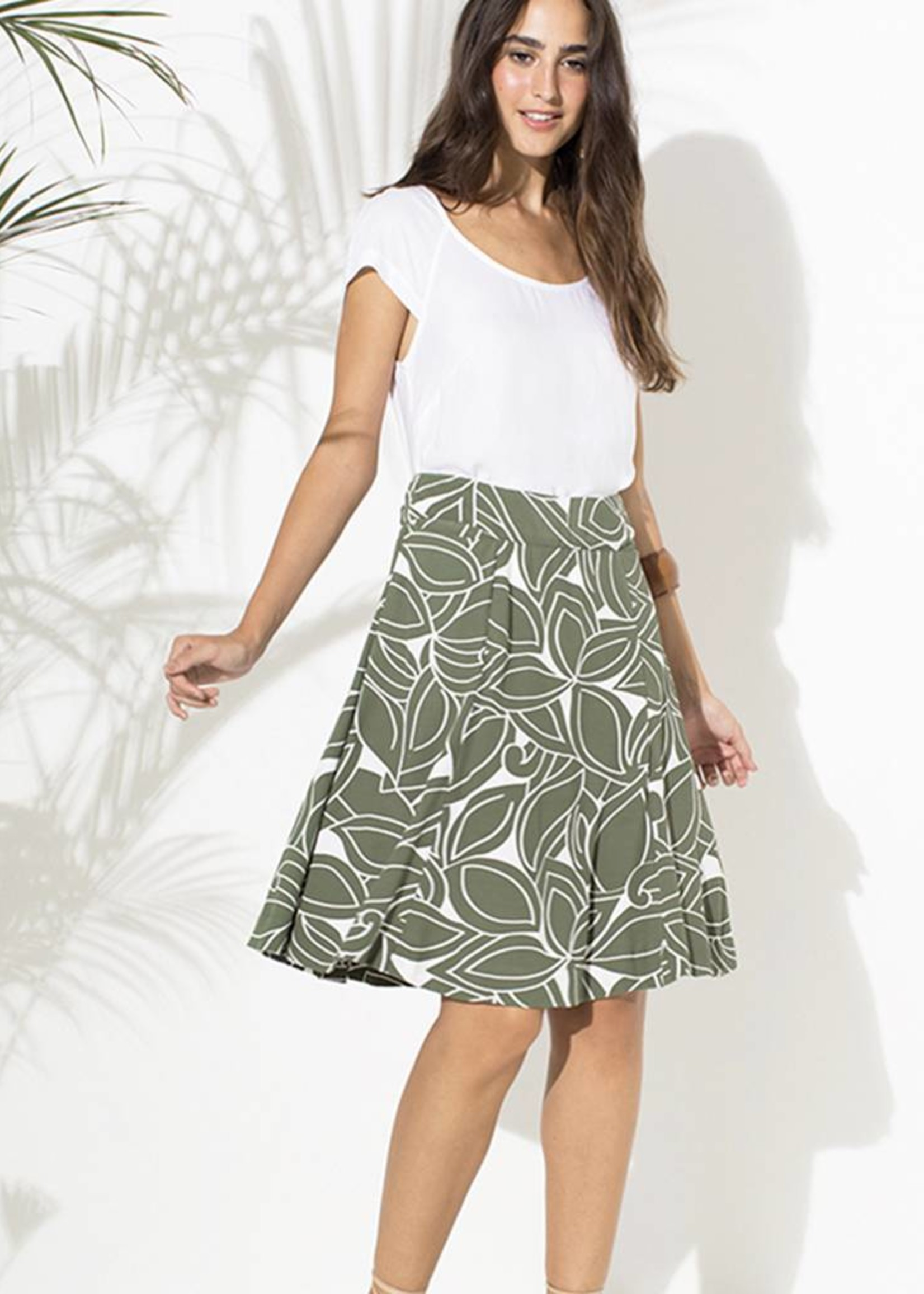 Totem Franny Skirt in Botanic Green