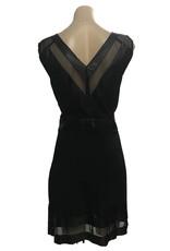 Elliatt Leather Shift Dress Black