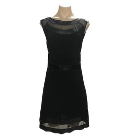 Elliatt Leather Shift Dress Black