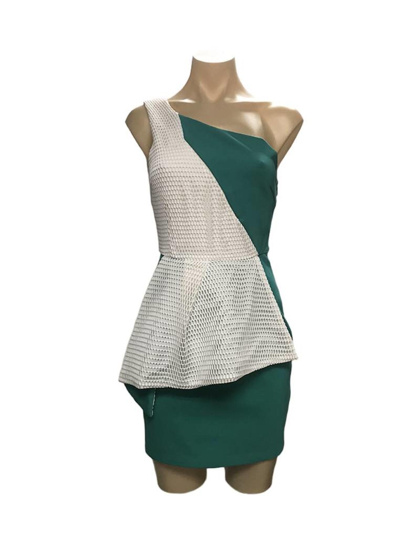 Elliatt Illustrate Dress - Teal/White