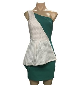 Elliatt Illustrate Dress - Teal/White