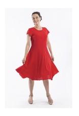 Orientique Linen Dress in Scarlet