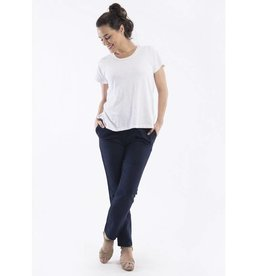 Orientique Linen Pants in Navy