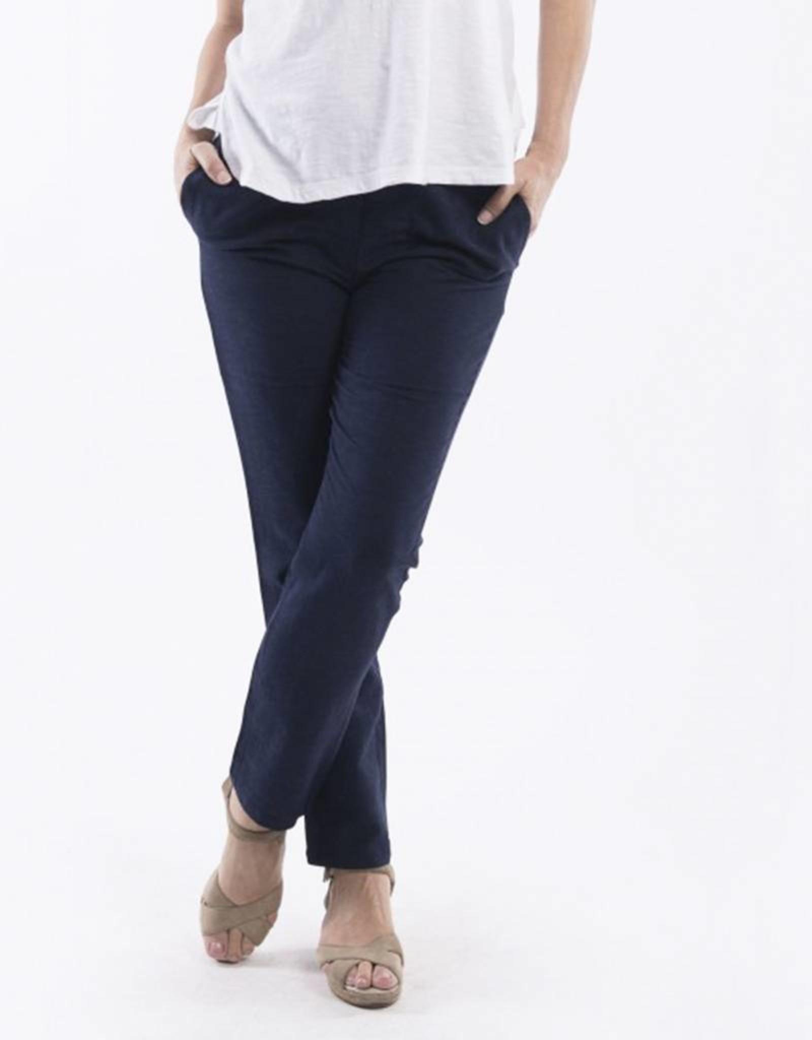 Orientique Linen Pants in Navy