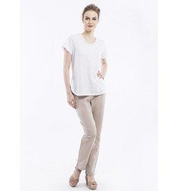 Orientique Linen Pants in Pebble