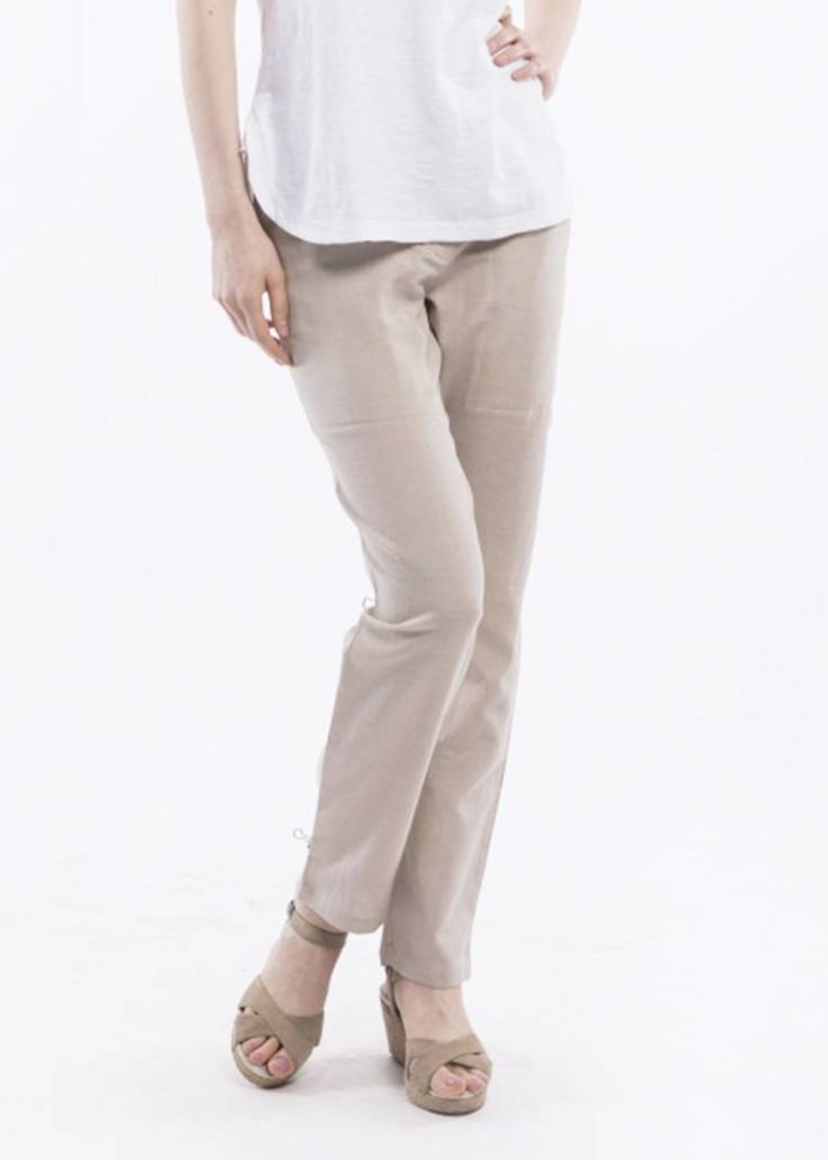 Orientique Linen Pants in Pebble