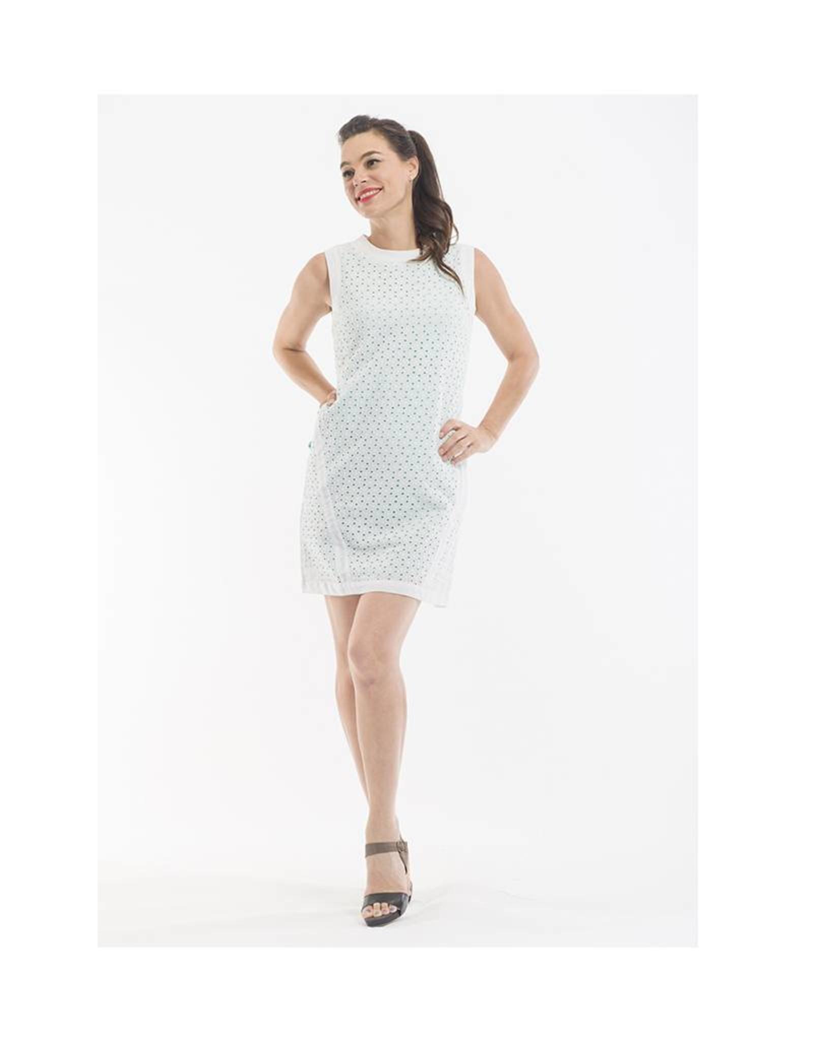 Orientique Broderie Dress in White