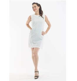 Orientique Broderie Dress in White