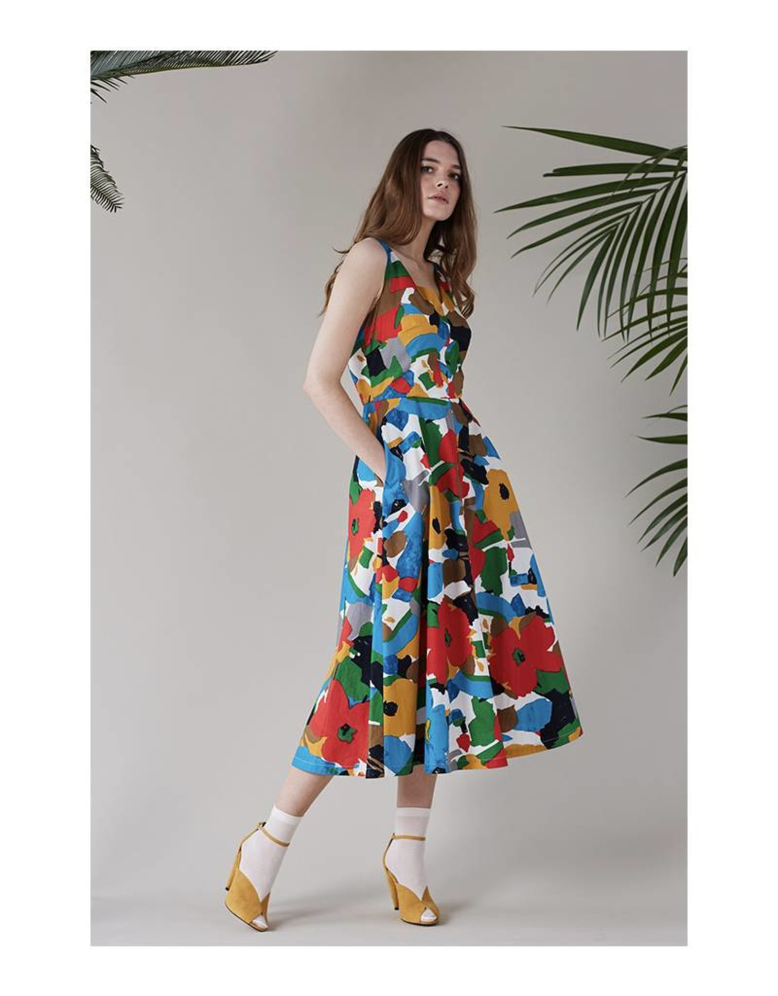 Emily & Fin Margot Midi Dress in Fireshade Flora