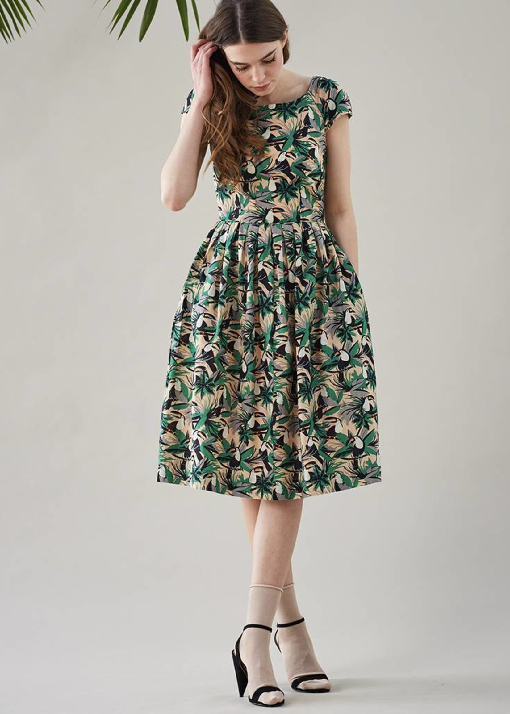 Emily & Fin Claudia Dress in Tropical Toucans