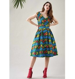 Emily & Fin Florence Dress in Blazing Blooms