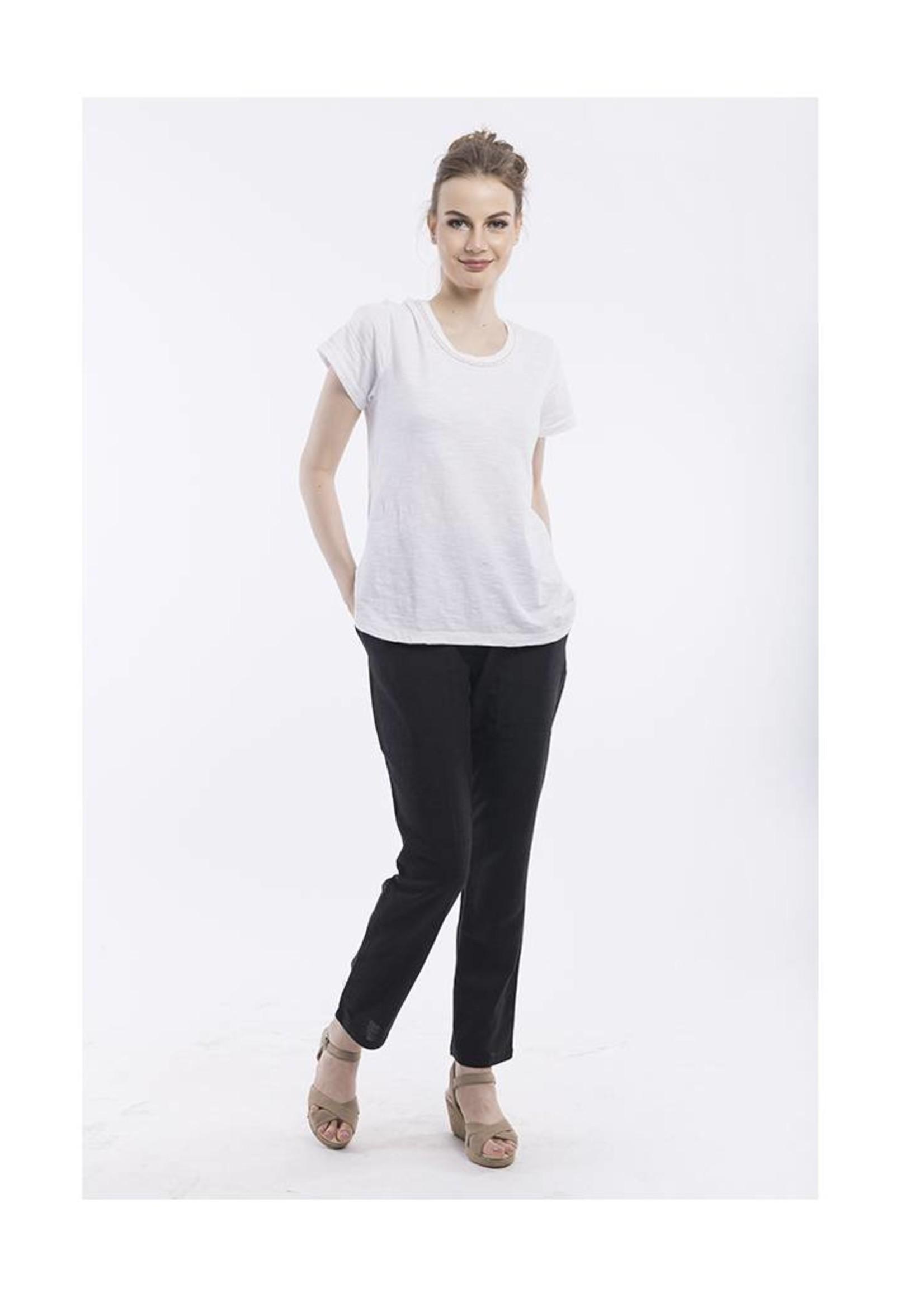 Orientique Linen Pants in Black