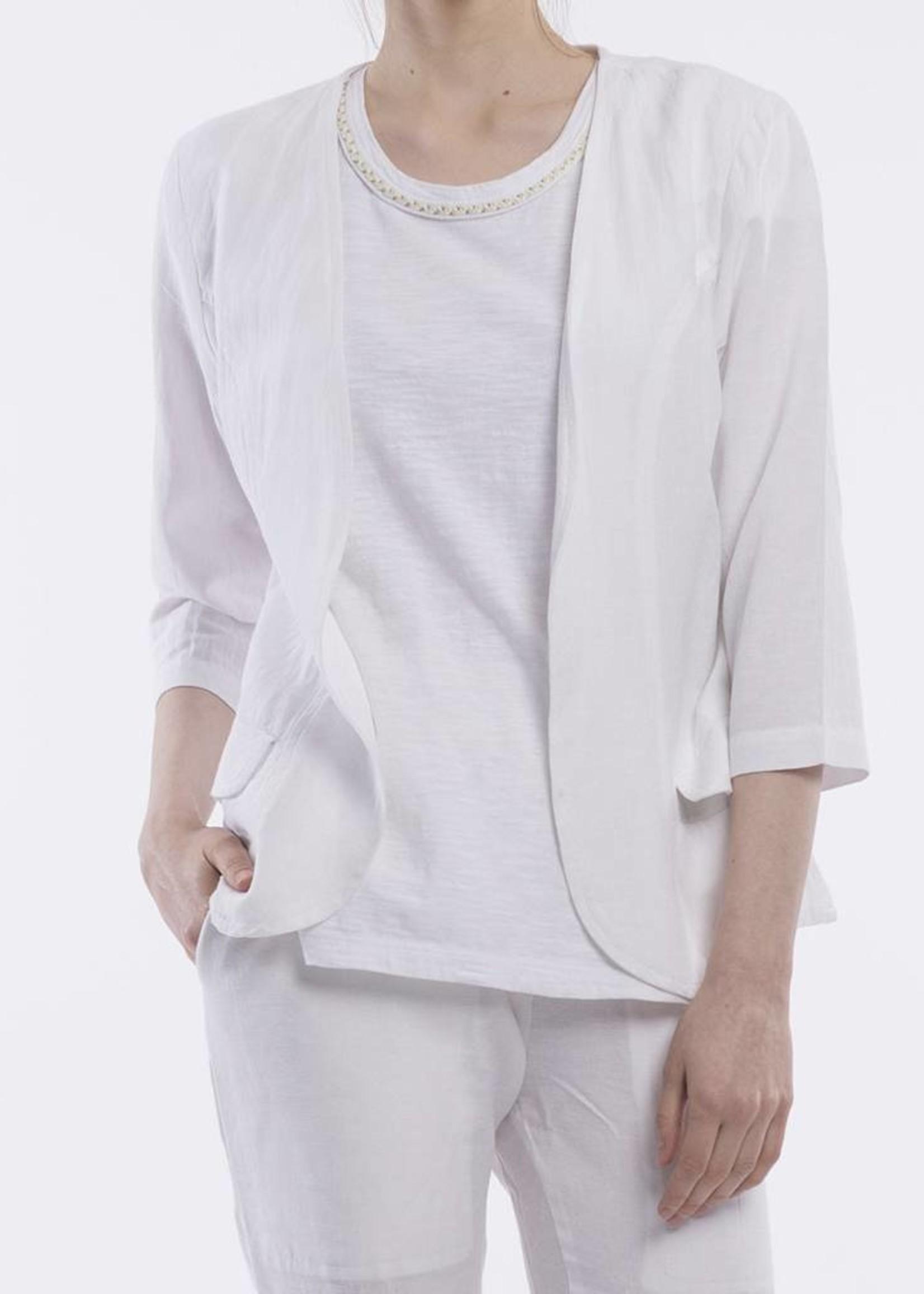 Orientique Linen Jacket in White