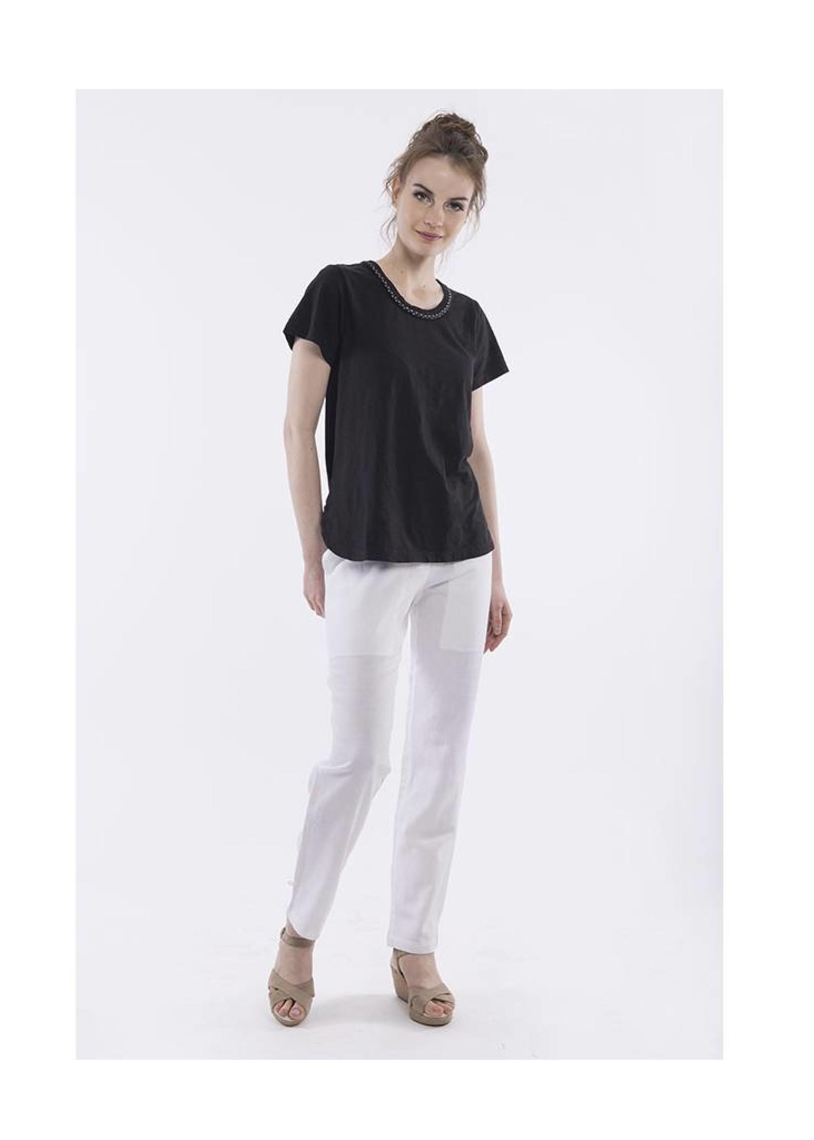 Orientique Linen Capri in White