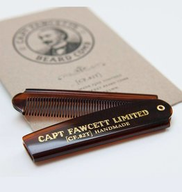 Captain Fawcett's Folding Pocket Beard Comb  (CF.82T)