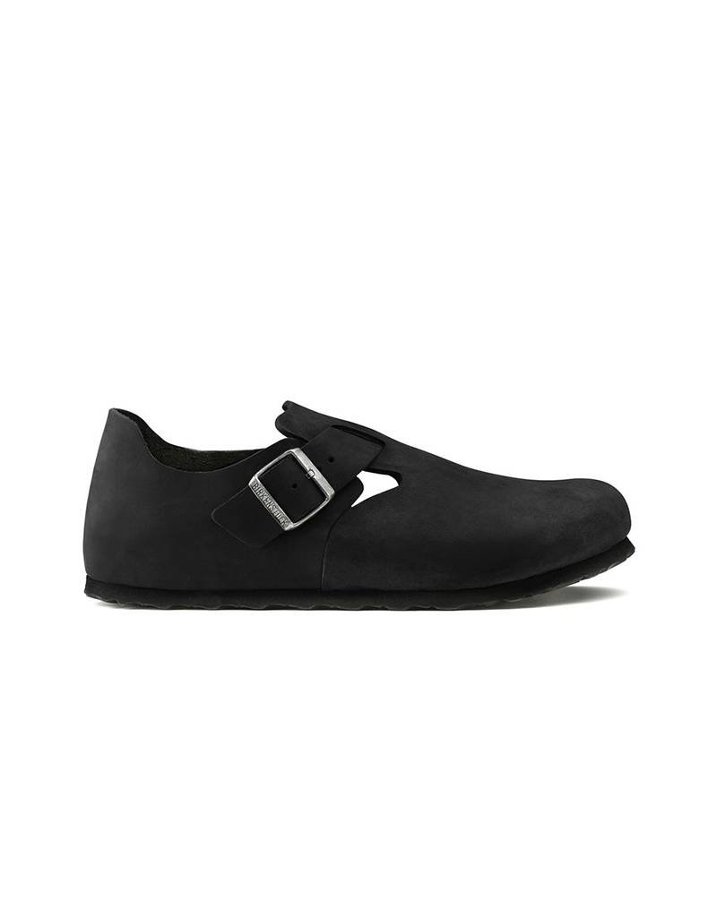 24f15af54be London - Natural Oiled Leather in Black (Classic footbed - Suede Lined) ...