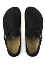 Birkenstock London - Natural Oiled Leather in Black (Classic footbed - Suede Lined)