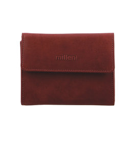 Milleni Leather Ladies Wallet - Red (C2884)