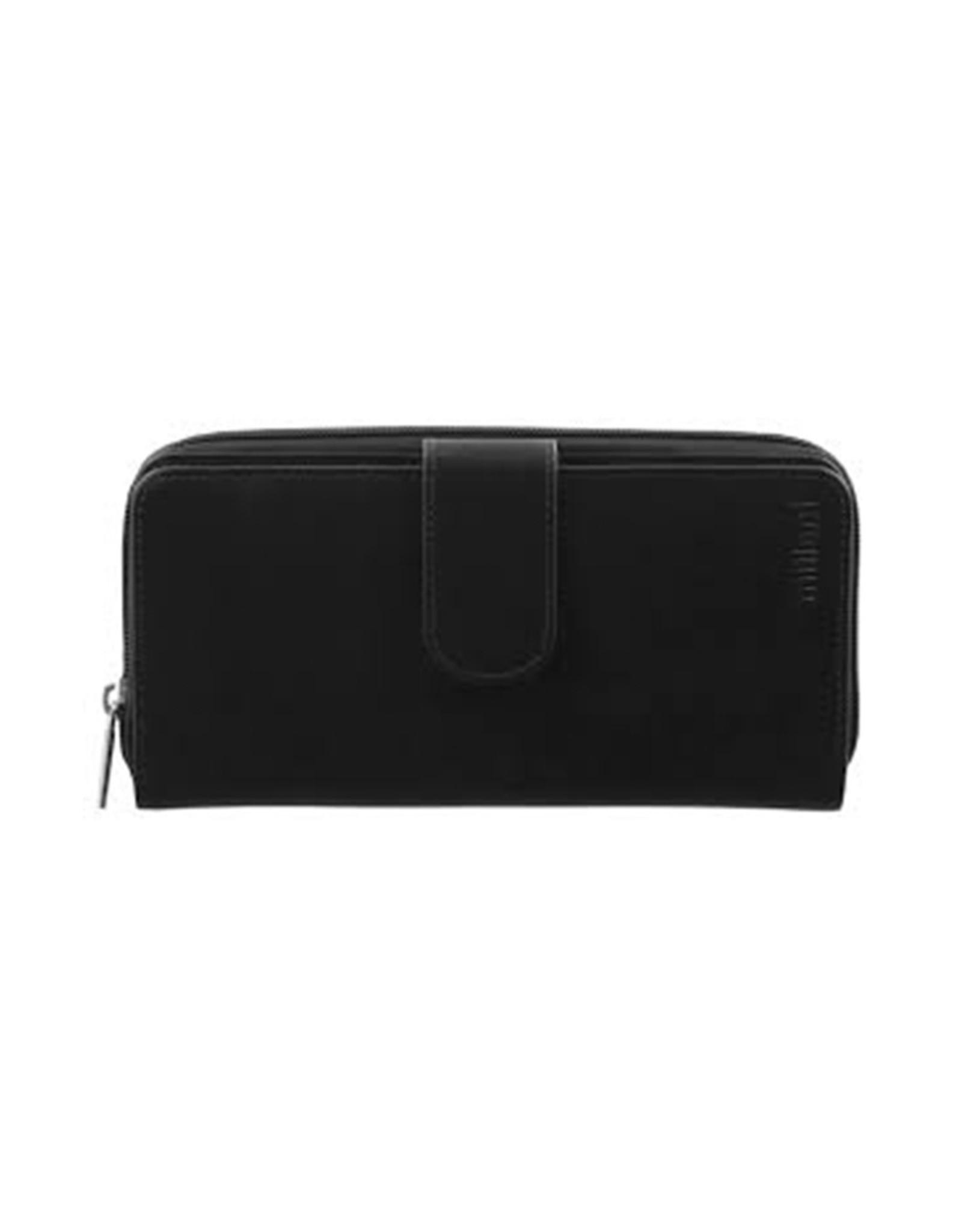 Milleni Leather Ladies Wallet - Black (C2885)