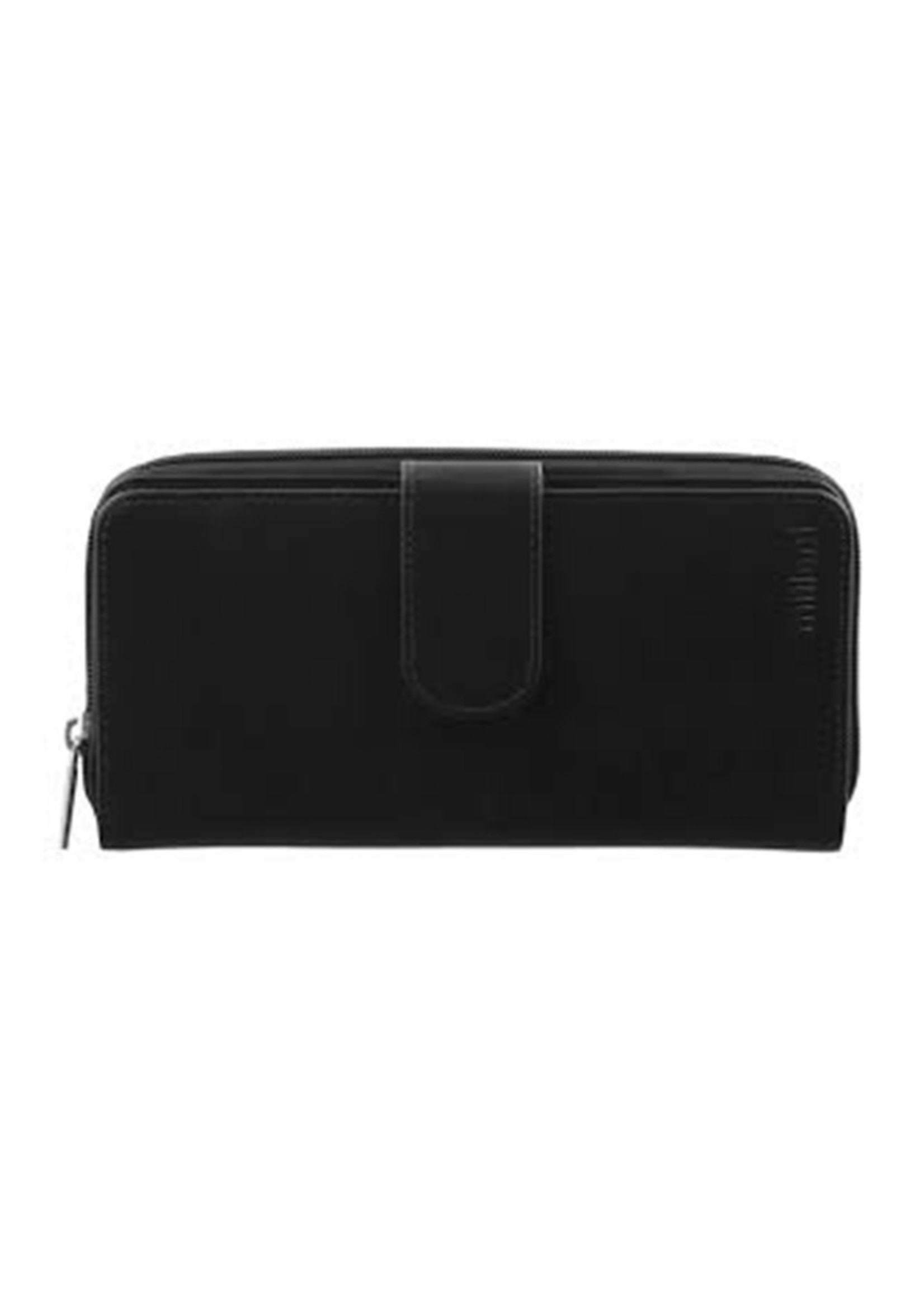 Milleni Leather Ladies Wallet - Black (C2885)