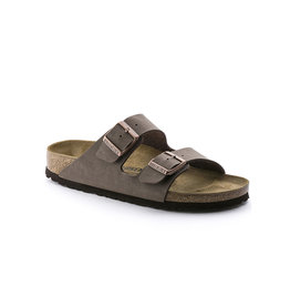 Birkenstock Arizona Narrow - Birko-Flor-Nubuck in Mocca